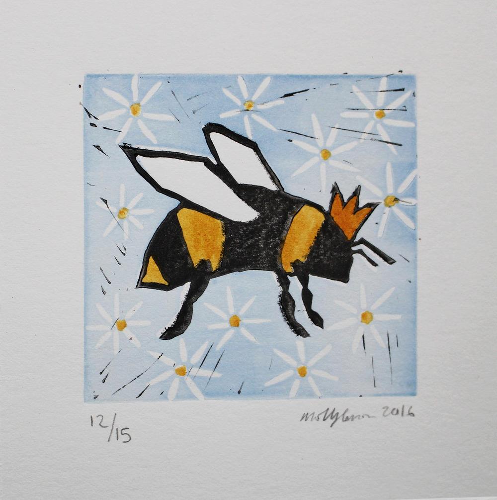 Linocut Queen Bee.jpg