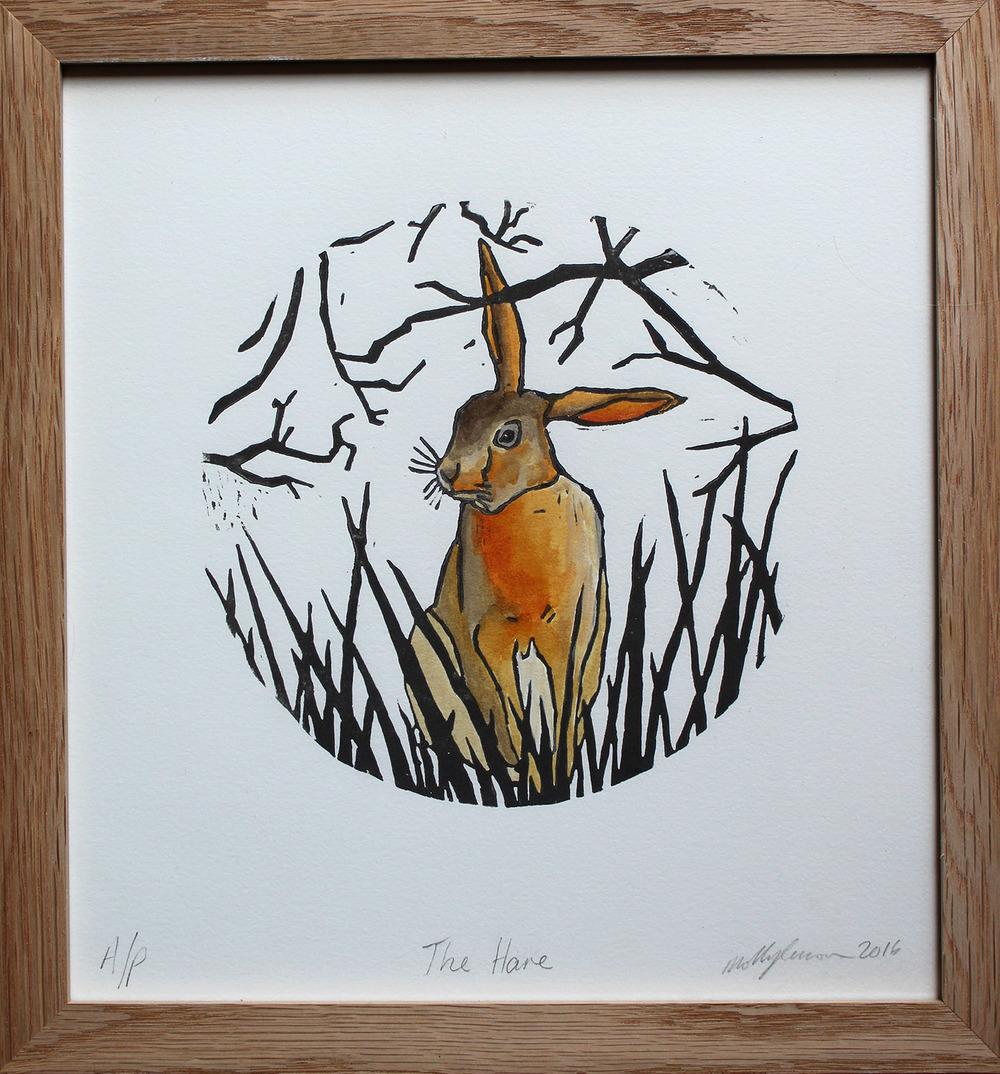 Linocut 2 Framed Hare.jpg