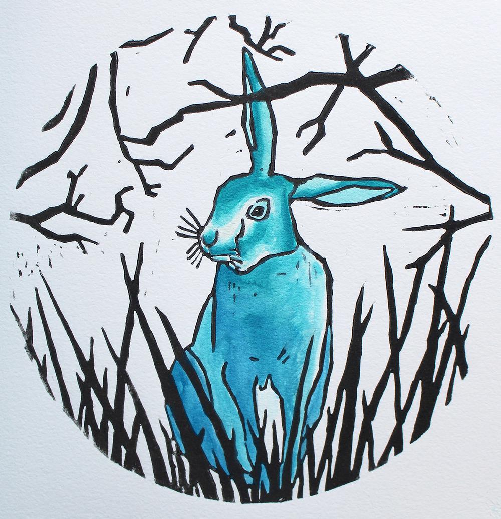 Linocut 2 Rabbit.jpg