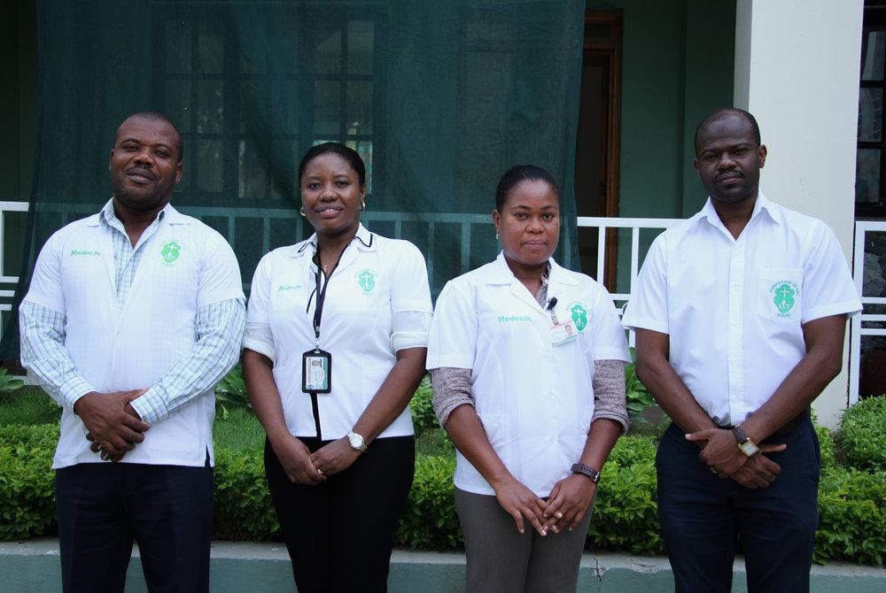 Members of the St Luc leadership team
