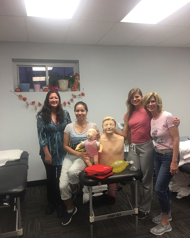 Our employees during our CPR class last month! Thank you Rich for being such a fantastic instructor !! 👊💪 #physicaltherapy #absoluterehab #pt #dpt #pta #cpr #course