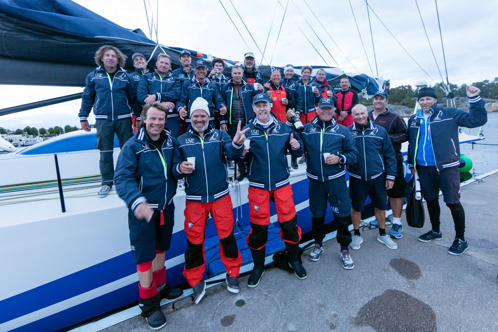 The CQS crew at the ÅF Offshore Race: Stockholm, Sweden