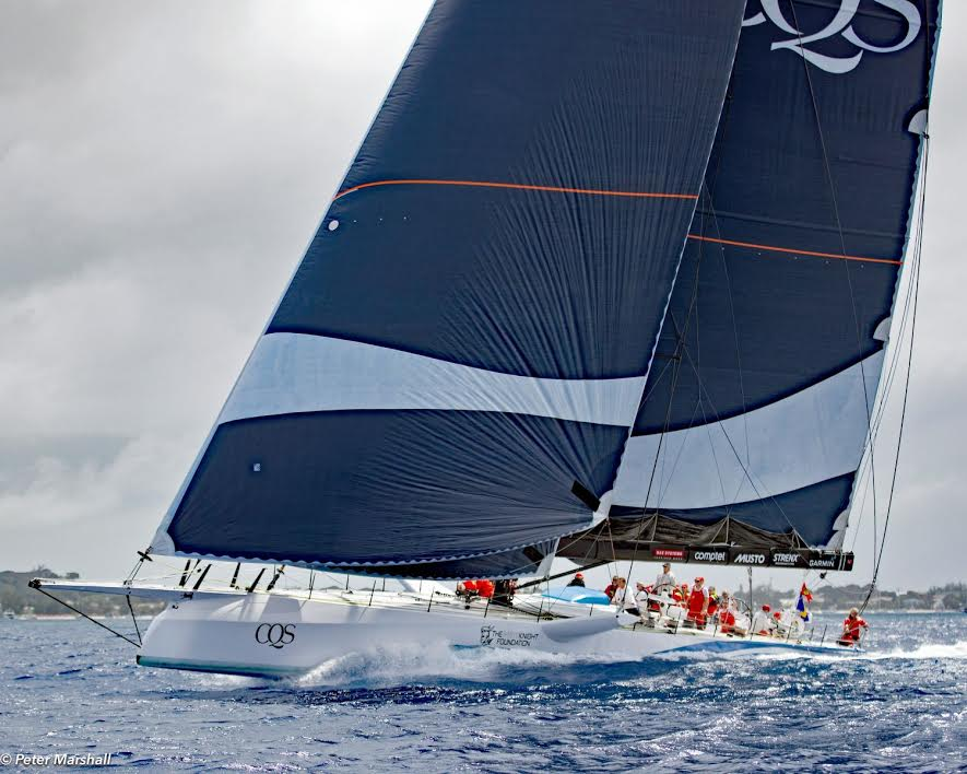 CQS breaking the Mount Gay Round Barbados Race record