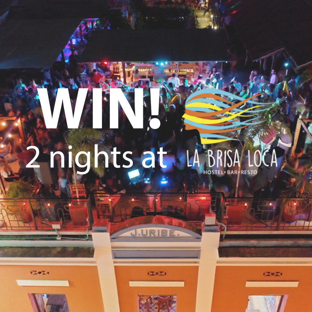 Win two nights at La Brisa Loca Hostel in Santa Marta Colombia.png