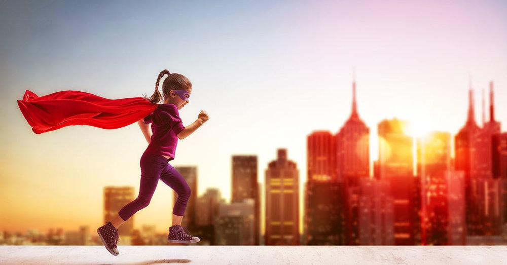 little girl super hero