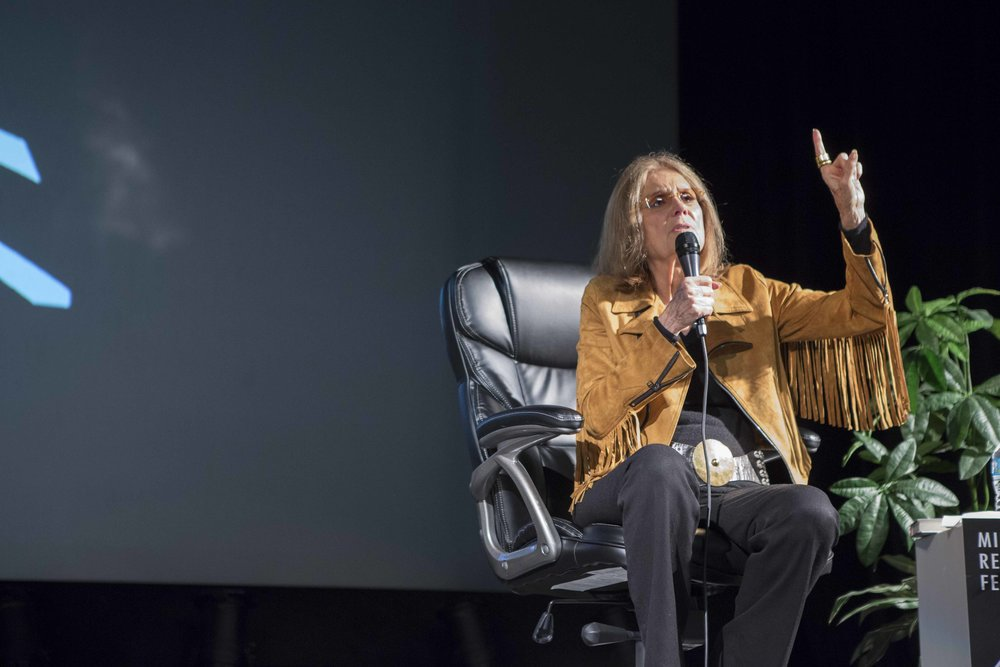 Gloria Steinem talks about activism, feminism and her life one the road. Full audio below.         Photo copyright Charise Isis