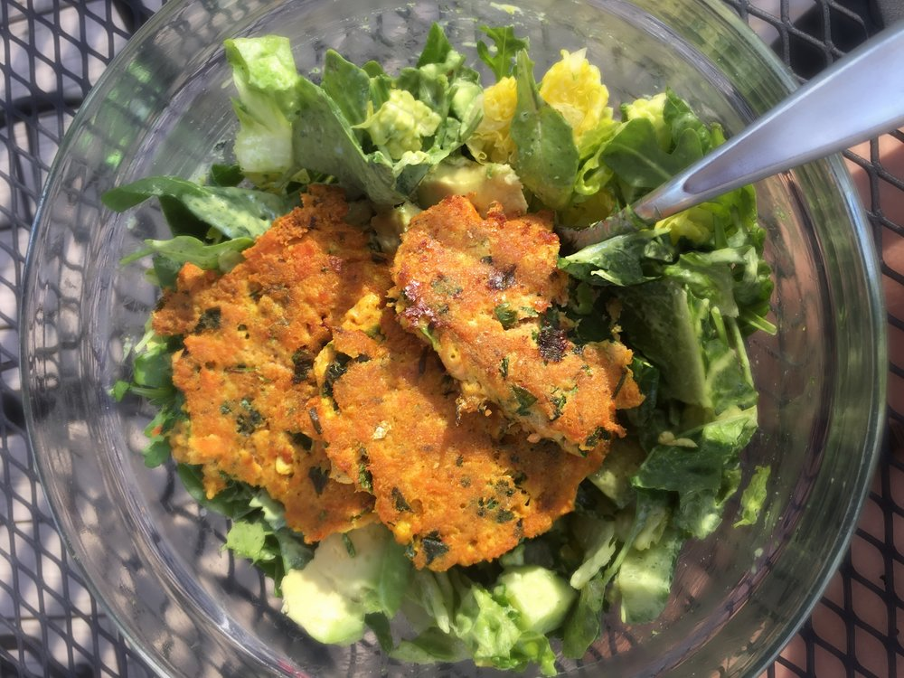 This dressing is great with my Crispy Salmon Cakes.