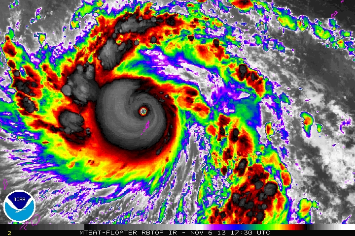 Super Typhoon Haiyan (Yolanda).