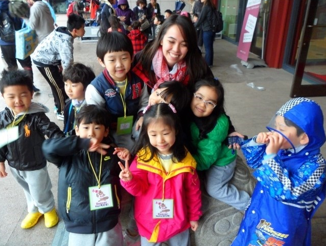 My students and I at the Korean National History Museum when I was a teacher in Seoul.
