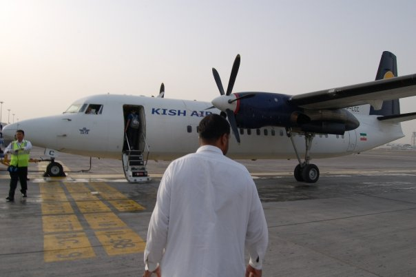 The Kish Airlines Fokker 50 has a colorful history.