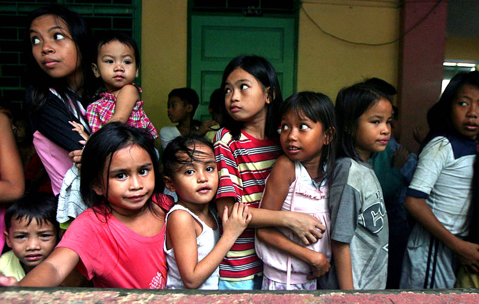 Pilipino children of different shades.