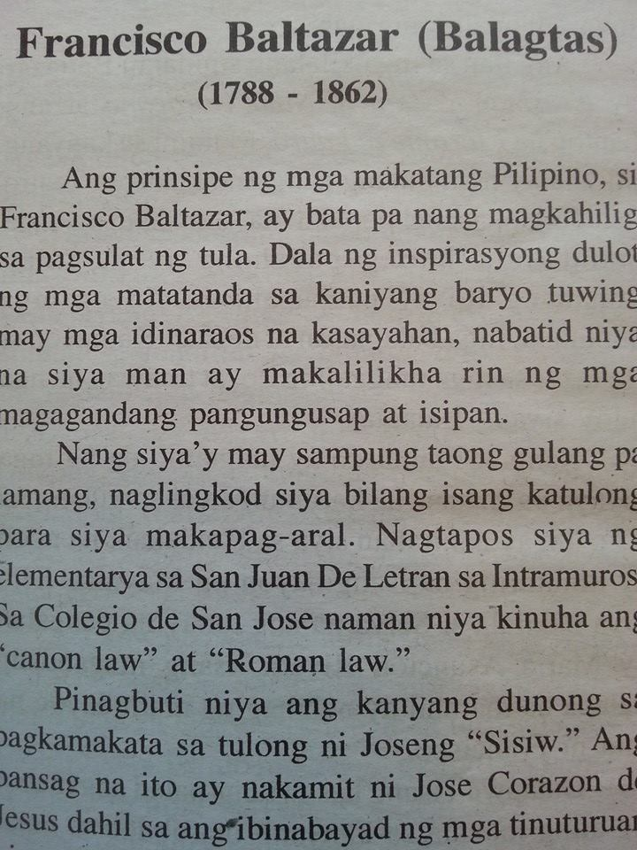 Tagalog introduction to Florante at Laura