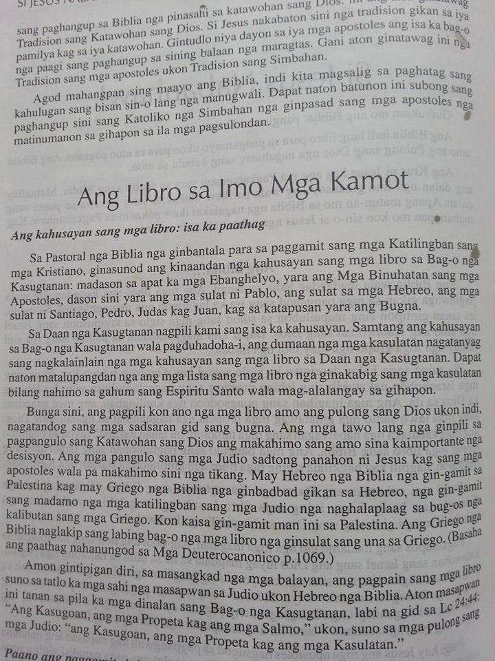 The Hiligaynon Bible.