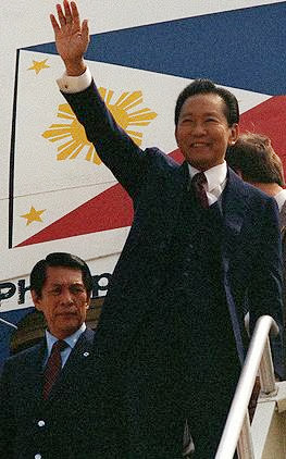 Ferdinand Marcos and Juan Ponce Enrile