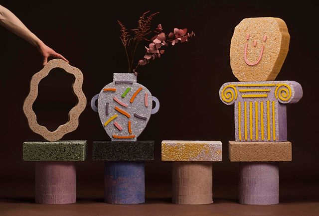 Concretely Happy. - by @jonatan.nilsson.design ⠀⠀⠀⠀⠀⠀⠀⠀⠀ - #beckmanscollegeofdesign #beckmansdesign #jonatannilsson #concretelyhappy #breradesigndistrict #fuorisalone #milandesignweek #swedishdesignmoves #svenskform #stockholmfurniturefair #salonedelmobile #baronesso
