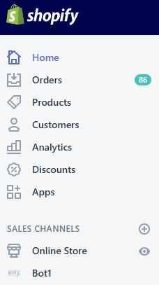 The Bot1 Sales Channel is now available in your Shopify admin