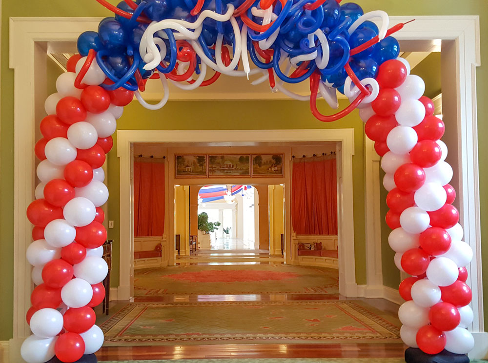 Fun Fireworks Themed Balloon Arch
