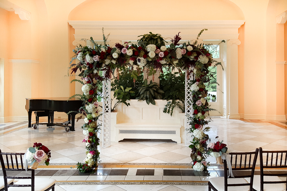 Wedding Arbor in Burgundy and Cream.jpg