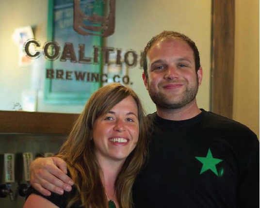 Owners and founders of Coalition Brewing Kiley Hoyt and Elan Walsky
