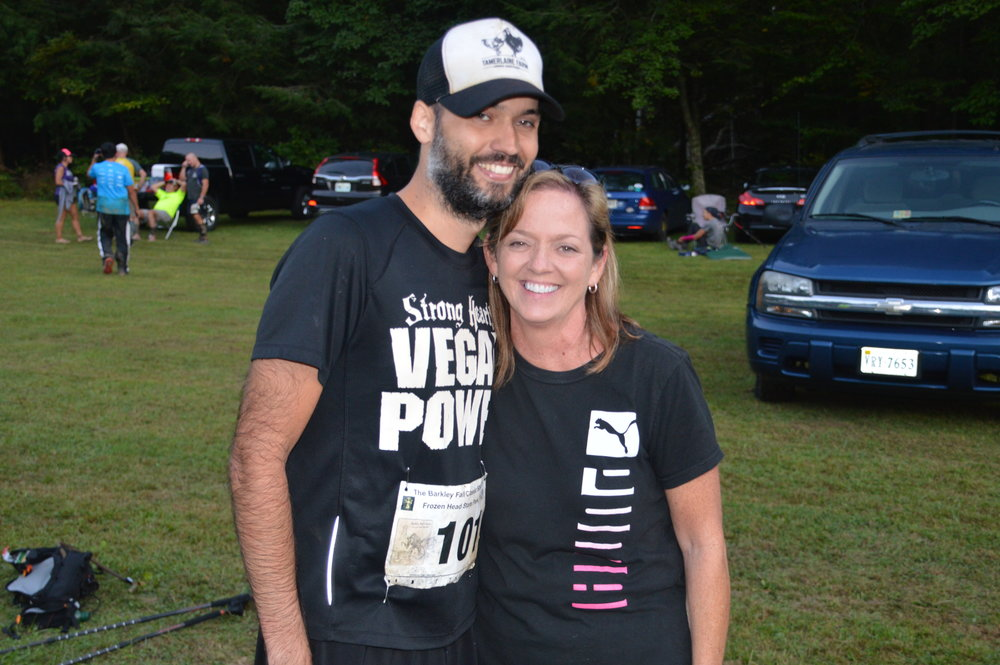 At the finish with my Momma - Photo by John Jeffries
