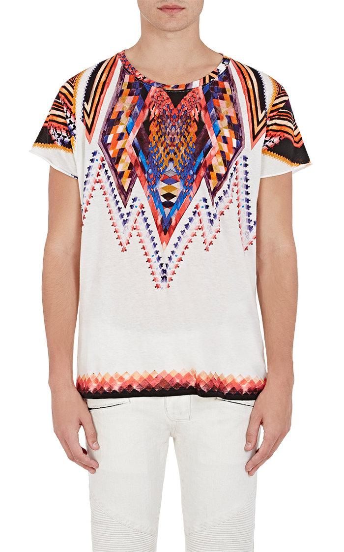 BALMAIN Folkloric-Print T-Shirt $600.jpg
