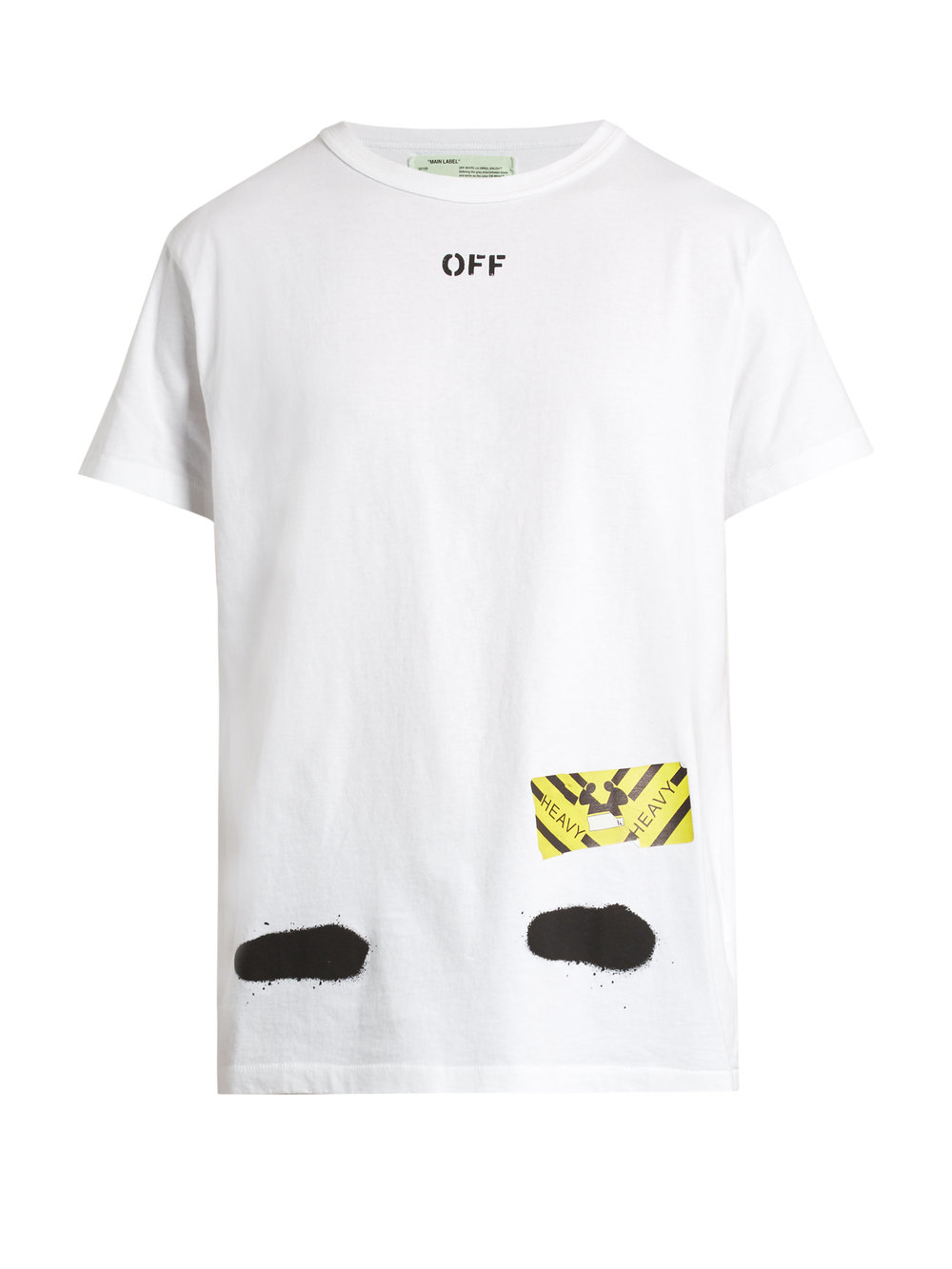 OFF-WHITE  Spray-print cotton-jersey T-shirt £166  .jpg