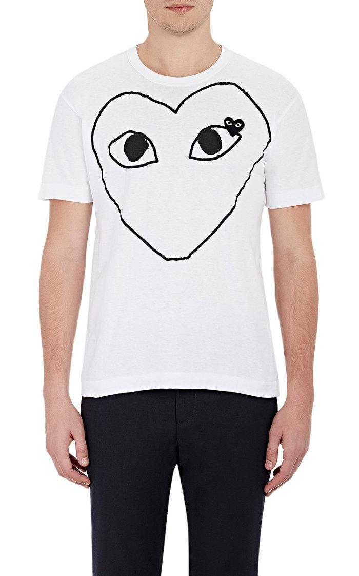 COMME DES GARÇONS PLAY Heart-Graphic T-Shirt $125.jpg