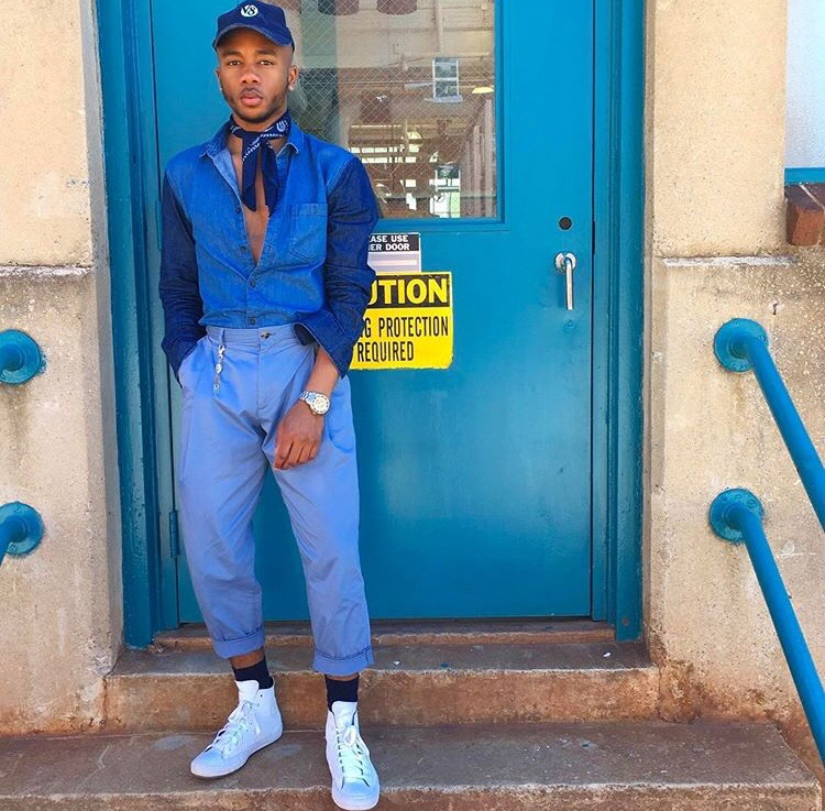 Lonni Giovanni @Longlivelonni ATL Fashionable Morehouse student