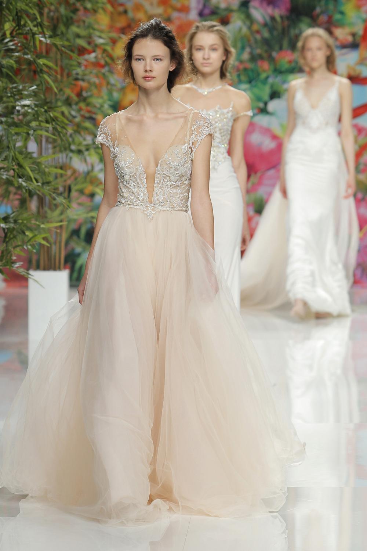 Stunning wedding dress in nude by Galia Lahav