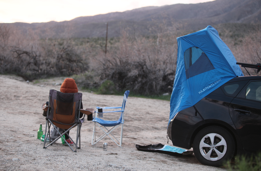 desert-c&ing-in-toyota-prius-habitents-tent & Field Notes #5: Anza-Borrego Desert State Park u2014 One Wild Life