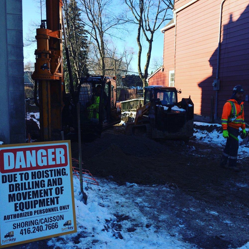 Turnkey shoring - Toronto - safety - Tescar CF3