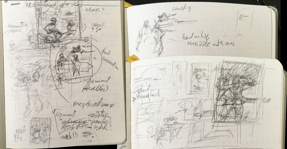 sketch pages for Victory in Europe