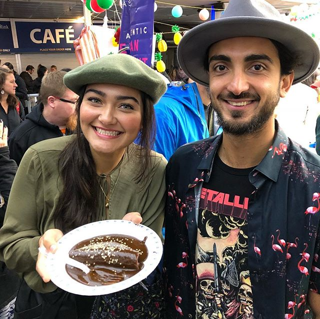 Chef Cèsar has flown in all the way from @casareynapuebla to share his unbelievable Molè with #marketmexicoyvr. ✌️ This is a must try if you visit the market today 🌵💥👌