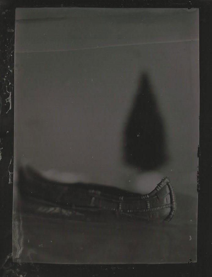 tintype toy canoe
