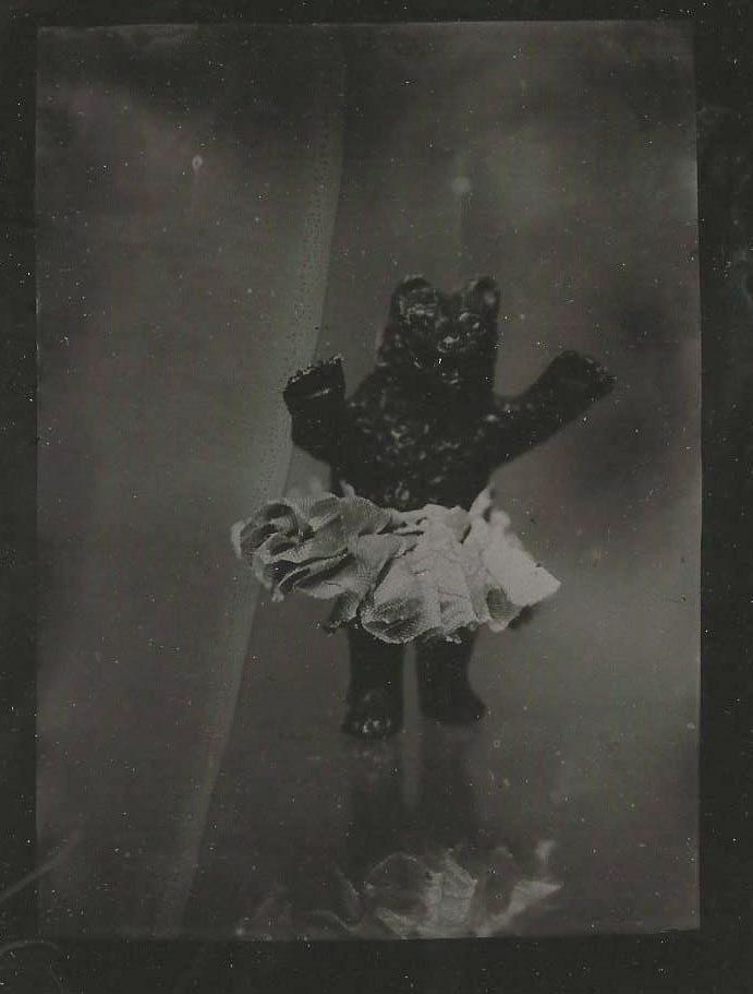 tintype toy bear