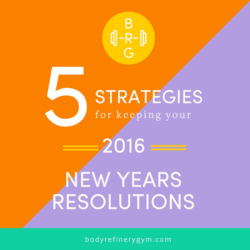5 Strategies for keeping your 2016 New Years Resolutions