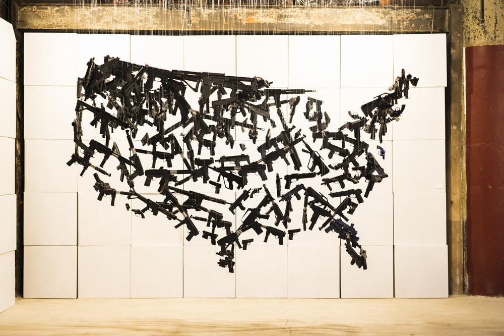 """""""Gun Country,"""" by artist Michael Murphy."""