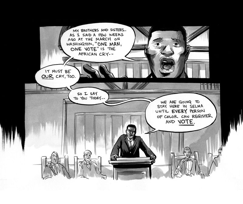 From March: Book Three by John Lewis, Andrew Aydin and Nate Powell, from Top Shelf Productions.