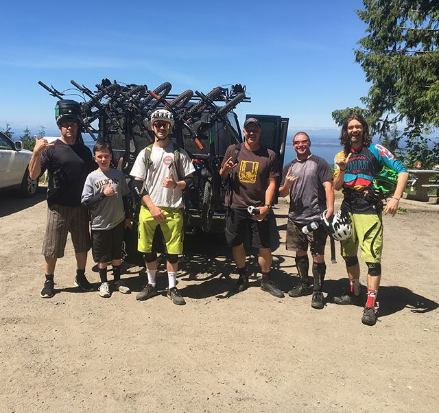 After ripping down some sweet trail on fresh legs, it's hard not to be stoked! Last weekend's crew certainly was! - - Load 'em up! Chuckanut Shuttles every Saturday and Sunday till October! Swipe left for shuttle times. - - #intrinsicflow #chuckanutshuttles #chuckanut #mtb #mountainbike #dh #enduro #allmountain #bellingham #wa #pnw