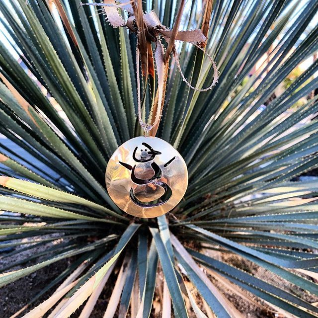 Customer Brass Ornament for a Friend 😀👍⛄️🎄🌵#tistheseason #christmastree #handmade #friendship #gift