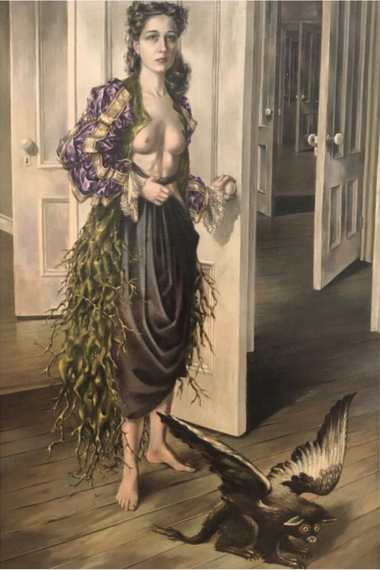 """Birthday"" Dorothea Tanning 1942 - Philadelphia museum of art"