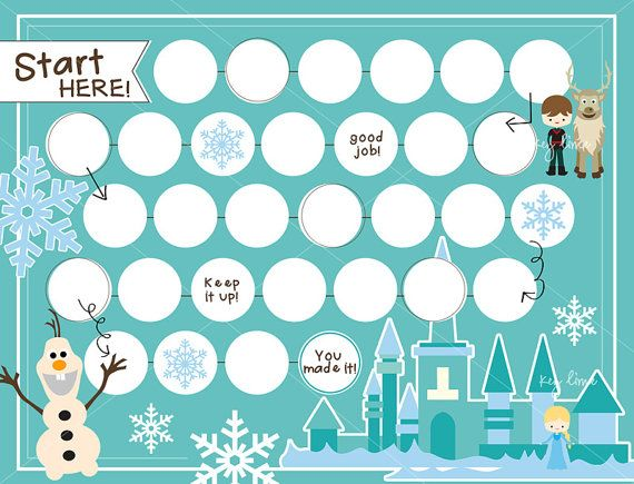 reward chart frozen theme