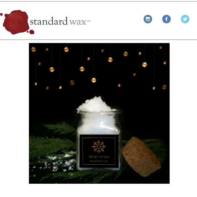 Our friends at @standardwax have a great new winter-time candle on sale for Black Friday.  Pick these up at their website for $16 each for just this weekend!  I'm buying a dozen as holiday presents - nothin' better. (at Standard Wax)