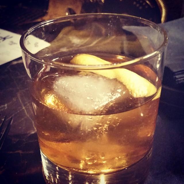 French Negroni….campari, gin, Italian vermouth.  @vivacadet @starrykitchen @ktominaga1 (at Cadet)
