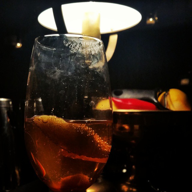 @vivacadet tonight for it's first official open night.  It's Effervescent….Classic - Angostura bitters, demeter a sugar, and lemon.  Delish. (at Cadet)