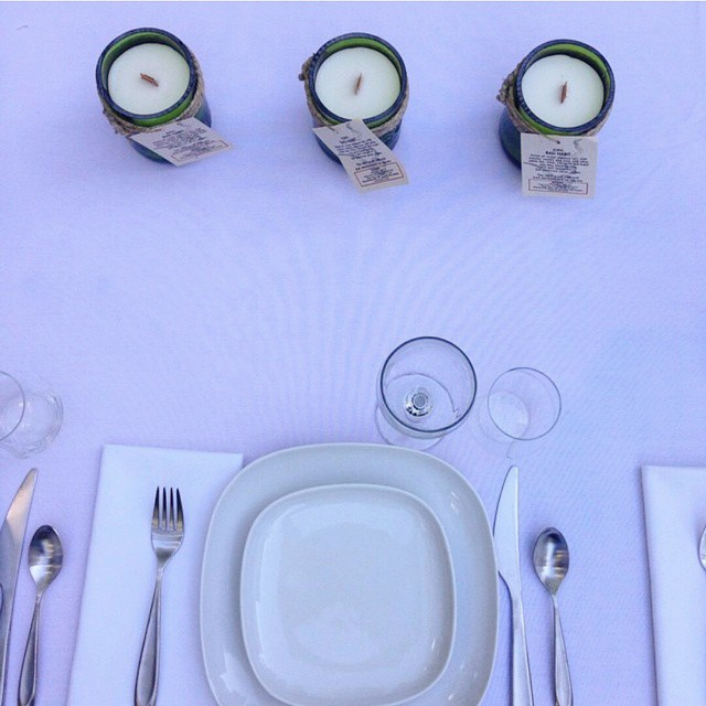 Are you ready to eat? @piecebypaz candles in scents: Old Money and Bad Habit! (at Eat+Drink Supper Club)