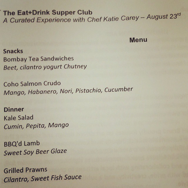 Booyah! #eatplusdrinksupperclub  (at Eat+Drink Supper Club)
