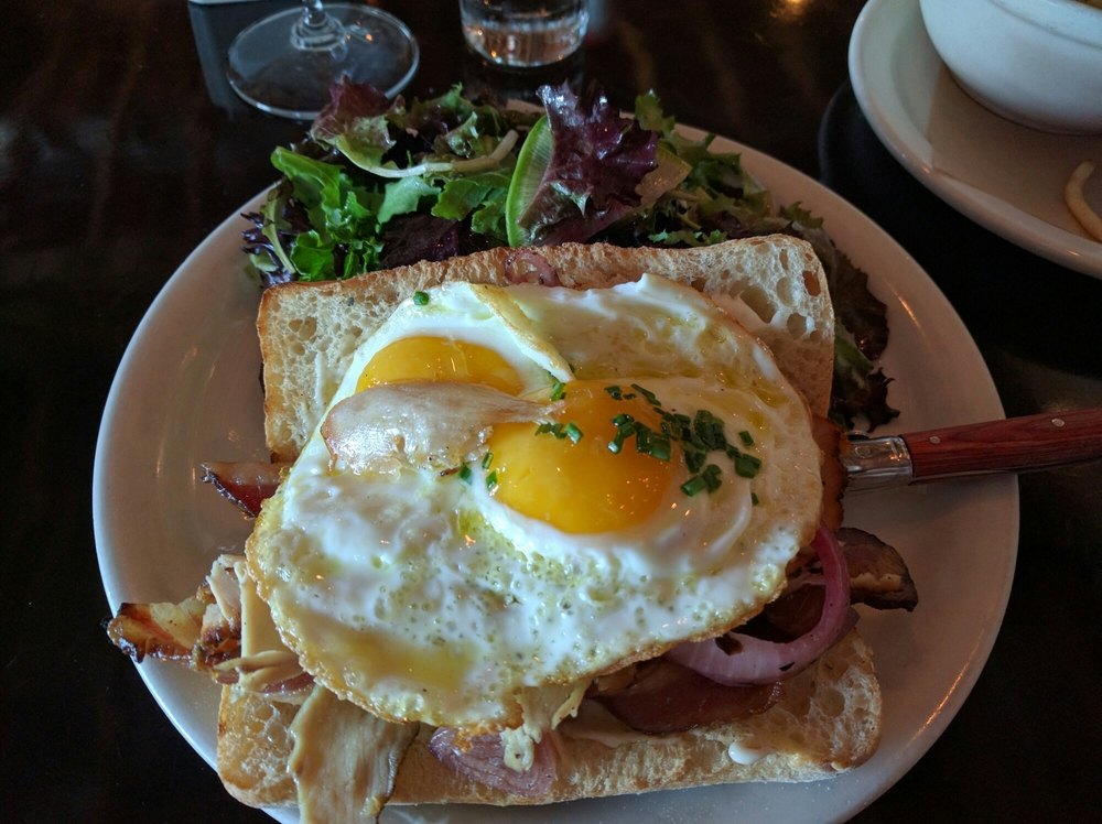 This LA take on a traditional Croque Madame is Sunday morning heaven.