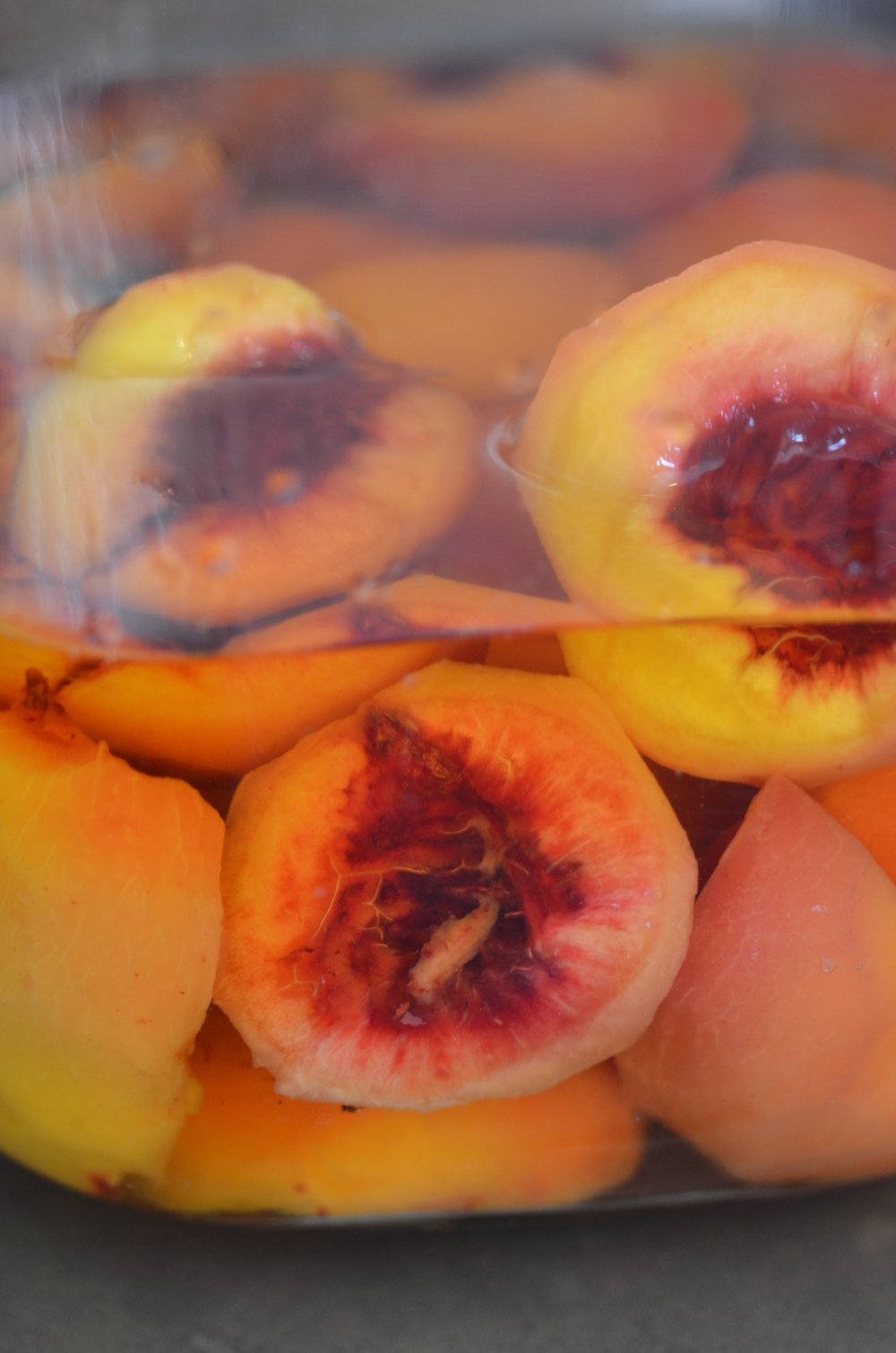 Peaches as I add Jameson