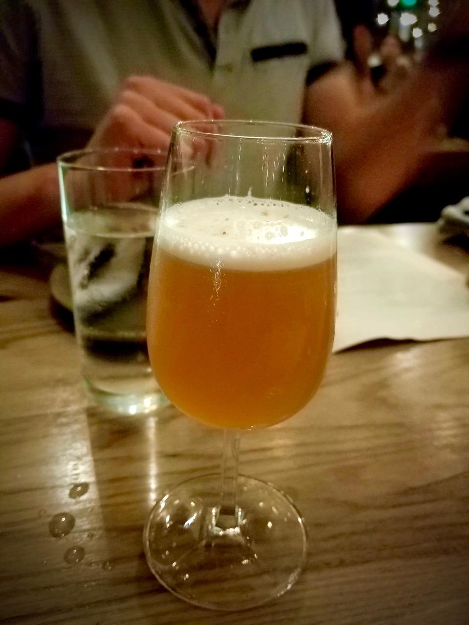 Bellini: Vodka, Peach, Noyeaux & Champagne